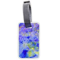 Abstract Blue Texture Pattern Luggage Tags (one Side)