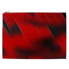 Red Black Abstract Cosmetic Bag (xxl)