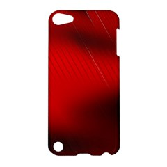 Red Black Abstract Apple Ipod Touch 5 Hardshell Case