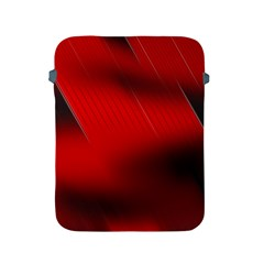 Red Black Abstract Apple Ipad 2/3/4 Protective Soft Cases