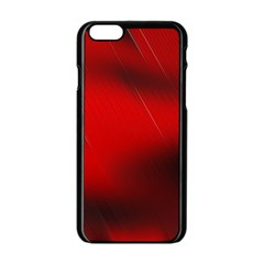 Red Black Abstract Apple Iphone 6/6s Black Enamel Case