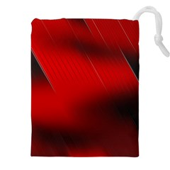 Red Black Abstract Drawstring Pouches (xxl)