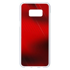 Red Black Abstract Samsung Galaxy S8 Plus White Seamless Case