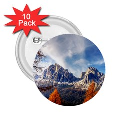 Dolomites Mountains Italy Alpine 2 25  Buttons (10 Pack)  by Simbadda