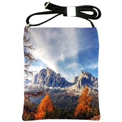 Dolomites Mountains Italy Alpine Shoulder Sling Bags by Simbadda