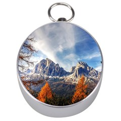 Dolomites Mountains Italy Alpine Silver Compasses by Simbadda