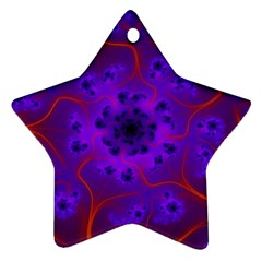 Fractal Mandelbrot Star Ornament (two Sides)