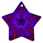 Fractal Mandelbrot Star Ornament (Two Sides) Back