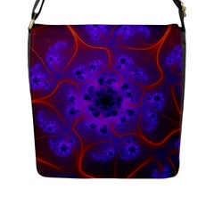 Fractal Mandelbrot Flap Messenger Bag (l)  by Simbadda