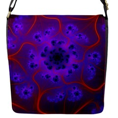 Fractal Mandelbrot Flap Messenger Bag (s) by Simbadda