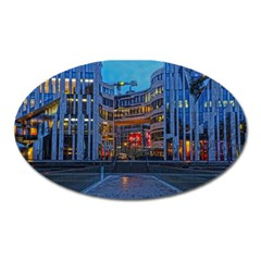 Architecture Modern Building Oval Magnet by Simbadda