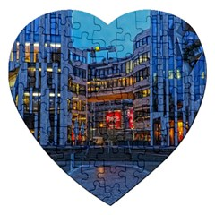 Architecture Modern Building Jigsaw Puzzle (heart)