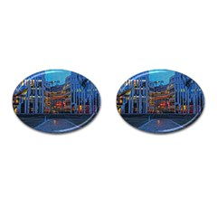 Architecture Modern Building Cufflinks (oval) by Simbadda