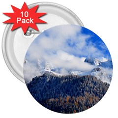 Mountains Alpine Nature Dolomites 3  Buttons (10 Pack)  by Simbadda