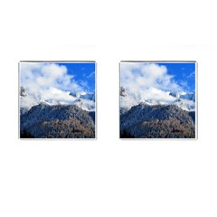 Mountains Alpine Nature Dolomites Cufflinks (square) by Simbadda