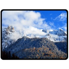 Mountains Alpine Nature Dolomites Fleece Blanket (large)