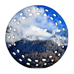 Mountains Alpine Nature Dolomites Round Filigree Ornament (two Sides)