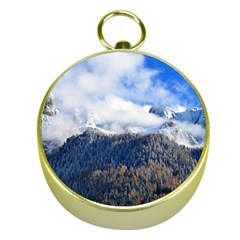 Mountains Alpine Nature Dolomites Gold Compasses by Simbadda