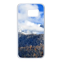 Mountains Alpine Nature Dolomites Samsung Galaxy S7 White Seamless Case by Simbadda