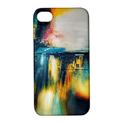 Art Painting Abstract Yangon Apple Iphone 4/4s Hardshell Case With Stand