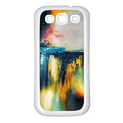 Art Painting Abstract Yangon Samsung Galaxy S3 Back Case (white)