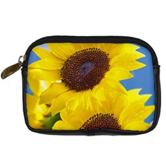 Sunflower Floral Yellow Blue Sky Flowers Photography Digital Camera Cases by yoursparklingshop