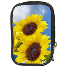 Sunflower Floral Yellow Blue Sky Flowers Photography Compact Camera Cases by yoursparklingshop
