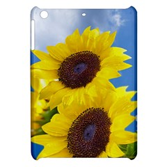 Sunflower Floral Yellow Blue Sky Flowers Photography Apple Ipad Mini Hardshell Case by yoursparklingshop
