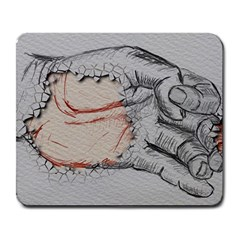 Hand Finger Drawing Fingernails Large Mousepads