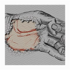 Hand Finger Drawing Fingernails Medium Glasses Cloth by Simbadda