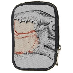 Hand Finger Drawing Fingernails Compact Camera Cases by Simbadda