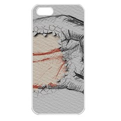 Hand Finger Drawing Fingernails Apple Iphone 5 Seamless Case (white)