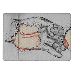 Hand Finger Drawing Fingernails Samsung Galaxy Tab 10 1  P7500 Flip Case by Simbadda