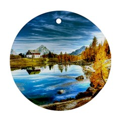 Dolomites Mountains Italy Alpin Ornament (round)
