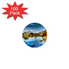 Dolomites Mountains Italy Alpin 1  Mini Buttons (100 Pack)