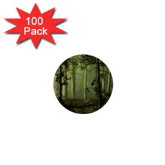 Forest Tree Landscape 1  Mini Buttons (100 Pack)