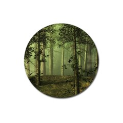 Forest Tree Landscape Magnet 3  (round) by Simbadda