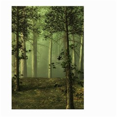 Forest Tree Landscape Large Garden Flag (two Sides) by Simbadda