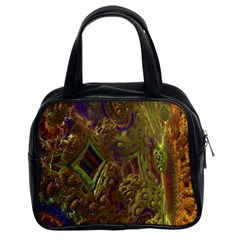 Fractal Virtual Abstract Classic Handbags (2 Sides) by Simbadda