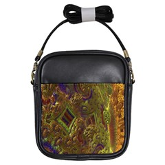 Fractal Virtual Abstract Girls Sling Bags