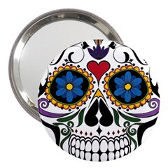 Cranium Sugar Skull 3  Handbag Mirrors by StarvingArtisan