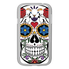 Cranium Sugar Skull Samsung Galaxy Grand Duos I9082 Case (white) by StarvingArtisan