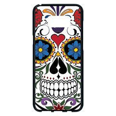 Cranium Sugar Skull Samsung Galaxy S8 Plus Black Seamless Case by StarvingArtisan