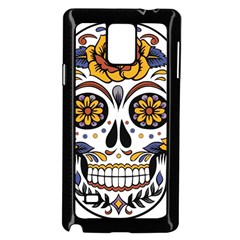 Sugar Skull Samsung Galaxy Note 4 Case (black) by StarvingArtisan