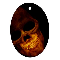 Laughing Skull Oval Ornament (two Sides) by StarvingArtisan