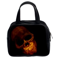 Laughing Skull Classic Handbags (2 Sides) by StarvingArtisan