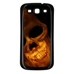 Laughing Skull Samsung Galaxy S3 Back Case (black) by StarvingArtisan