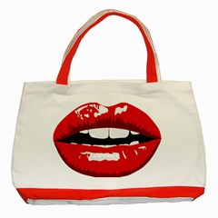 Sexy Lips Classic Tote Bag (red)