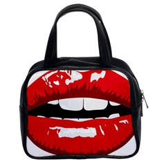 Sexy Lips Classic Handbags (2 Sides) by StarvingArtisan