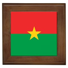 Flag Of Burkina Faso Framed Tiles by abbeyz71